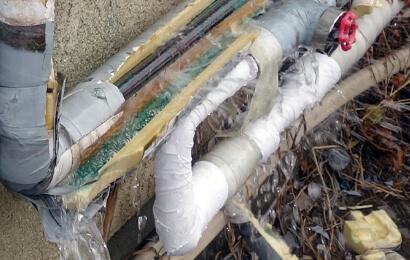 冬場の水道管凍結破裂