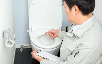 トイレの故障を修理