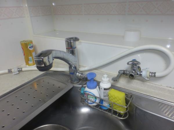 キッチン水漏れ交換前1