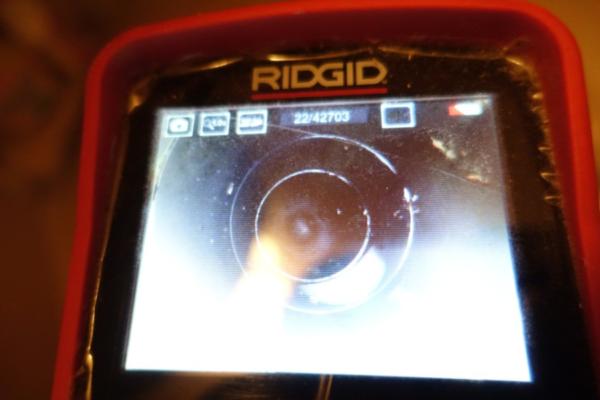 高圧洗浄後のカメラ調査