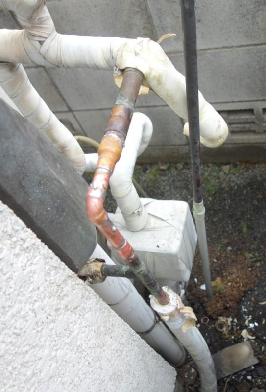 水道管修理後