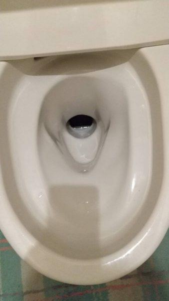 スマホが引っかかったトイレ