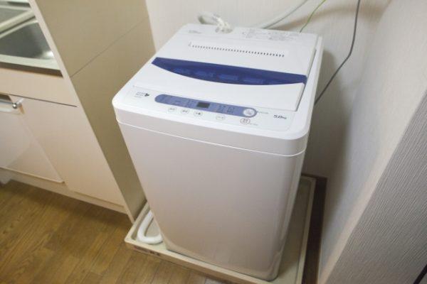 排水口が見える洗濯機