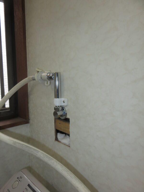 壁ピタ水栓取り付け後