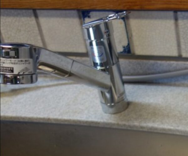 交換後キッチン水栓
